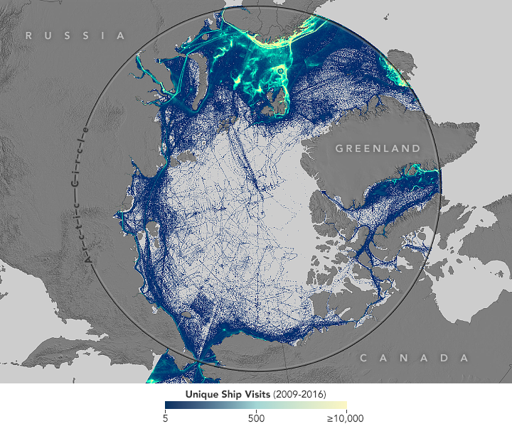 Arctic shipping grows as sea ice declines